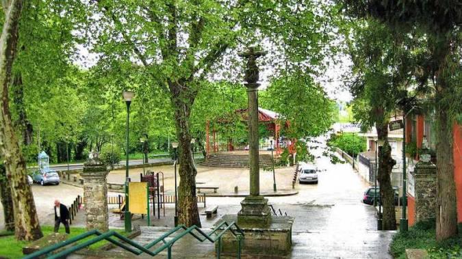A Lavacolla, junto a Santiago de Compostela