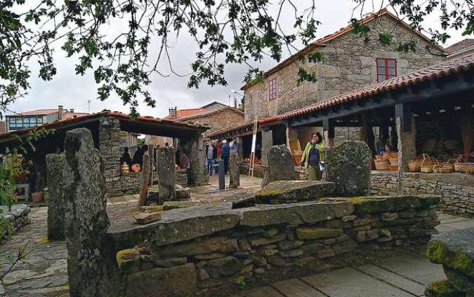 La localidad pontevedresa de Agolada, en Galicia