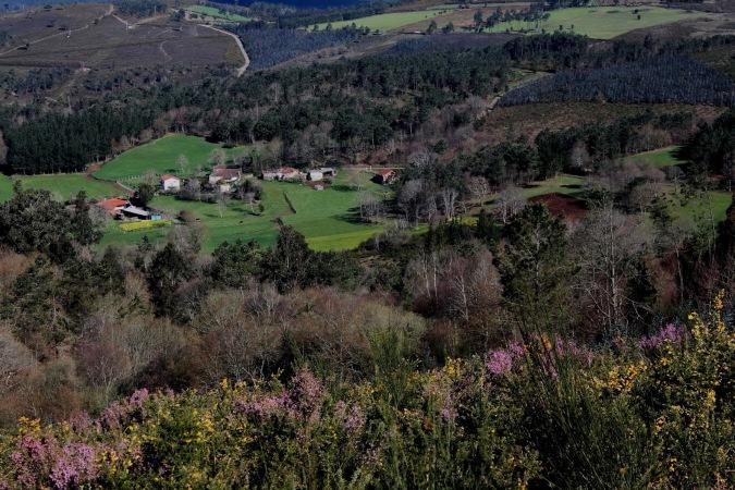Entorno natural de Agolada, en Pontevedra