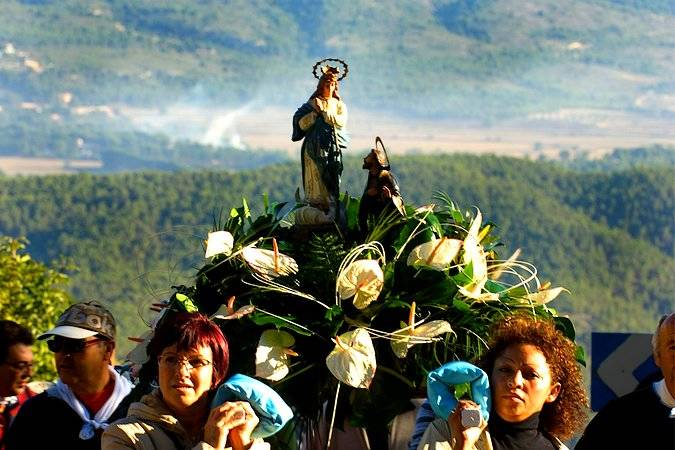 Romería de la Virgen de los Lirios, en Alcoy
