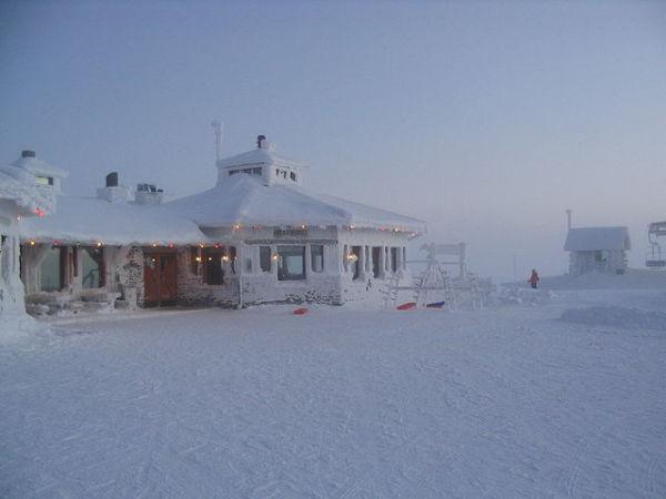 Saariselka, en Finlandia, durante el invierno