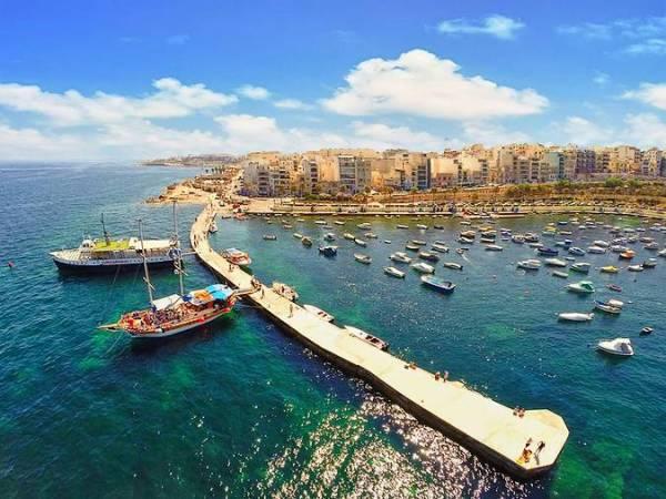 Bahía de San Pablo, en Malta