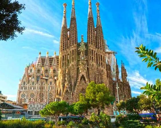 La Basílica de la Sagrada Familia, en Barcelona