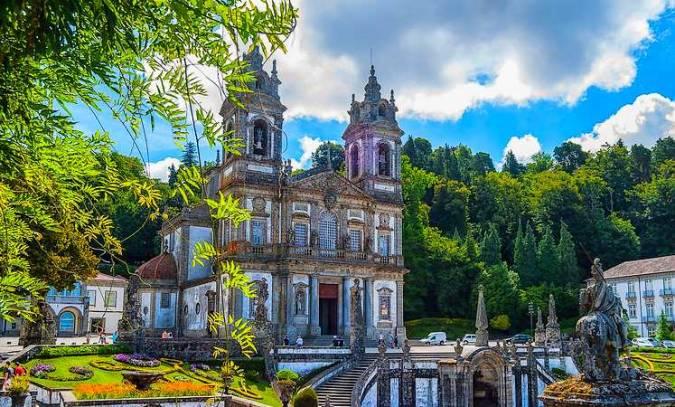 Santuario de Bom Jesus do Monte, en Braga, Portugal
