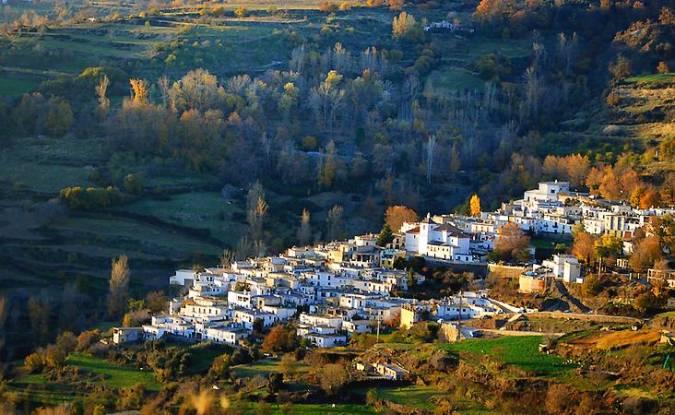 El pueblo de Busquístar, en la Alpujarra de Granada
