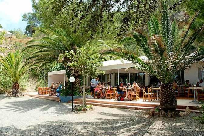 Restaurante de Cala S'Illot des Renclí, en Ibiza