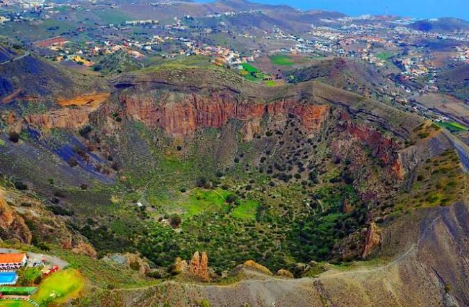 La Caldera de Bandama, en la isla de Gran Canaria