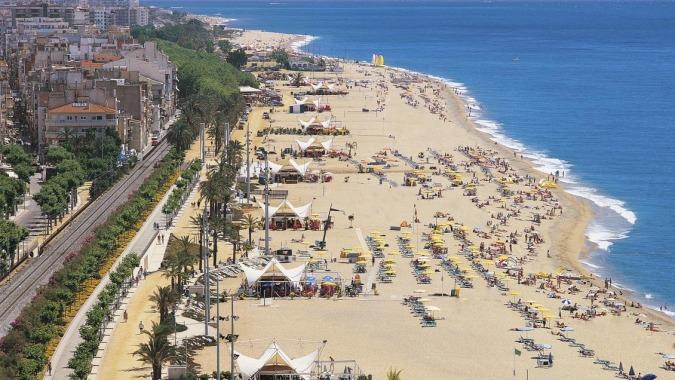 La Playa Grande de Calella