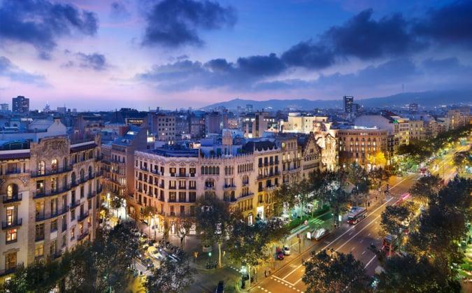 Paseo de Gracia, en Barcelona
