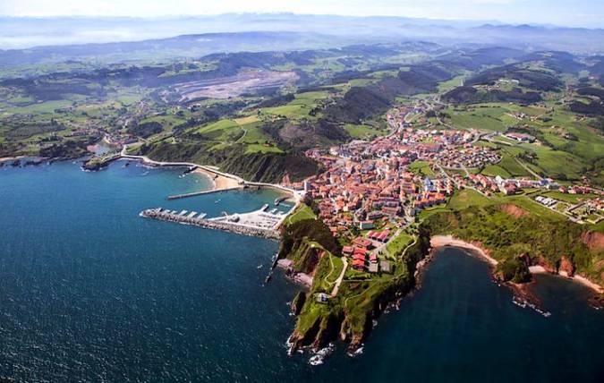 Vista aérea de Candás, en Asturias