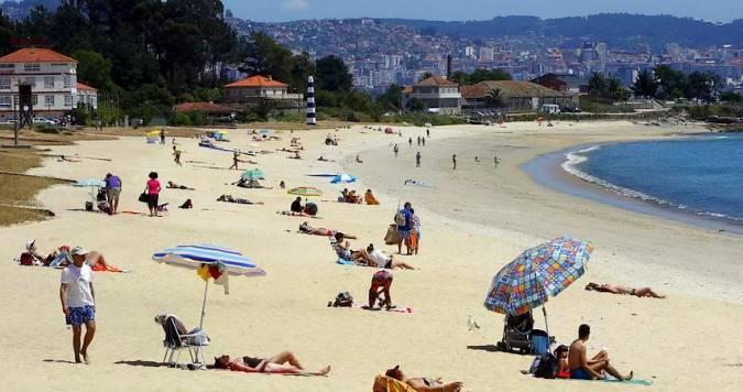 Playa de Rodeira, en Cangas de Morrazo, Pontevedra