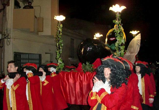 Entierro de la Morca, o morcilla, en el Carnaval de Villar del Arzobipo