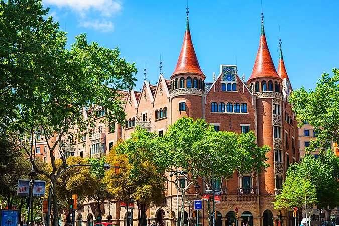 Casa de les Punxes, en Barcelona