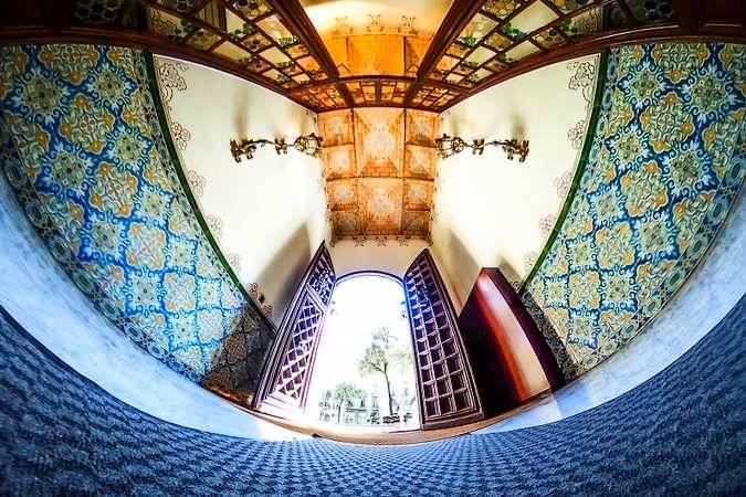 Interior de la Casa de les Punxes, en Barcelona
