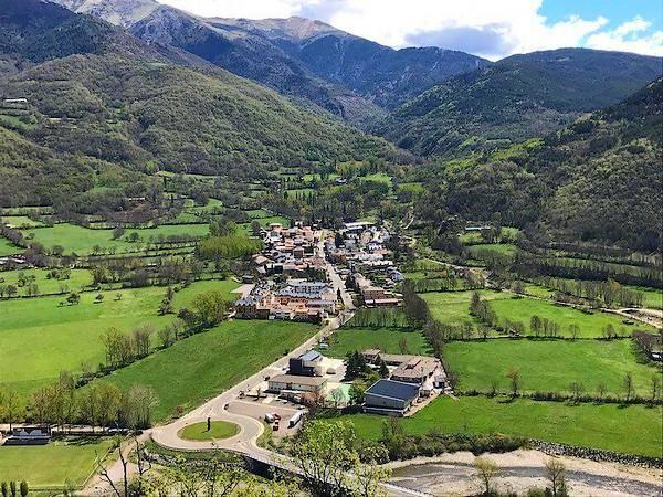 Castejón de Sos, en los Pirineos de Huesca