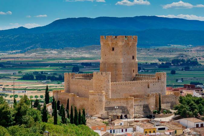 El Castillo de La Atalaya, en Villena, Alicante