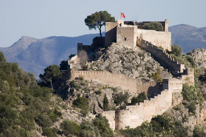 El castillo de Xàtiva, en Valencia
