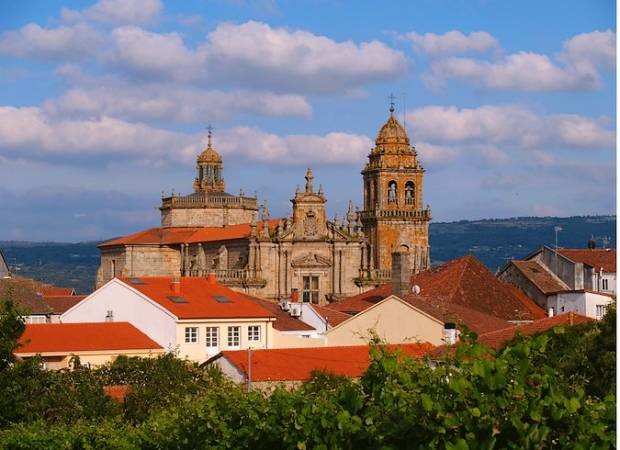 La histórica villa de Celanova, en Ourense