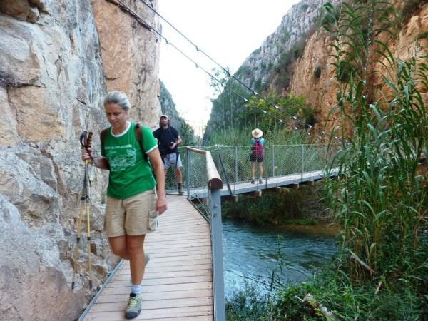 Ruta de los Puentes Colgantes de Chulilla, en Valencia