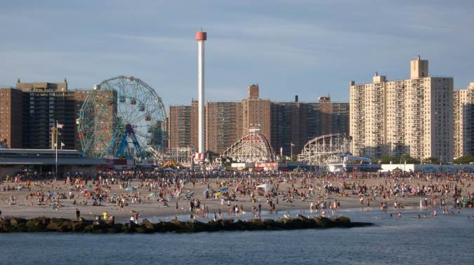 Playa de Coney Island, en Nueva York