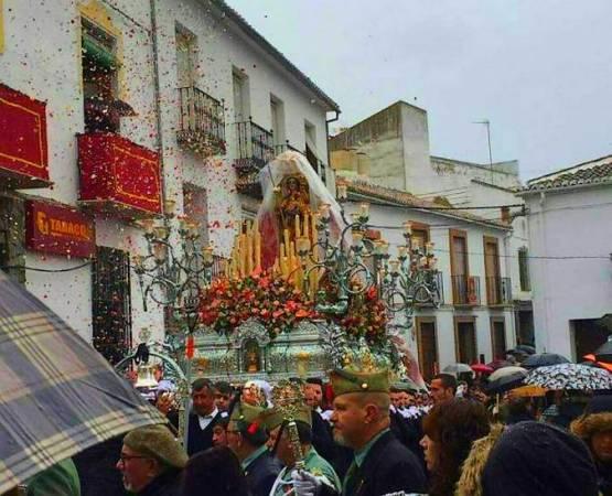 Procesión de la Candelaria, en Colmenar, Málaga