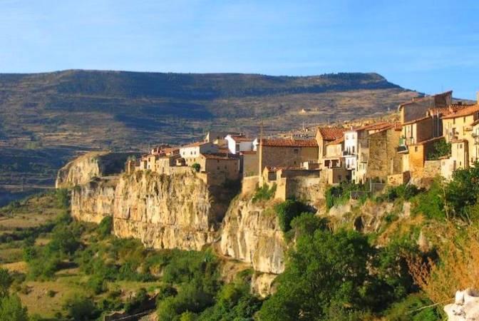 El pueblo de Cantavieja, en Teruel