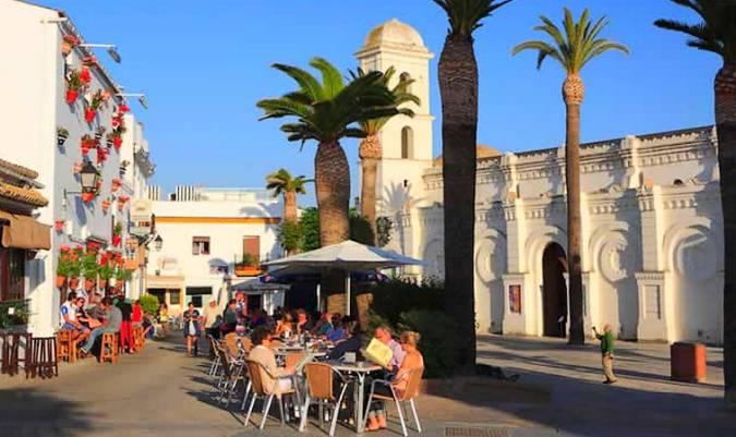 Casco antiguo de Conil de la Frontera, en Cádiz