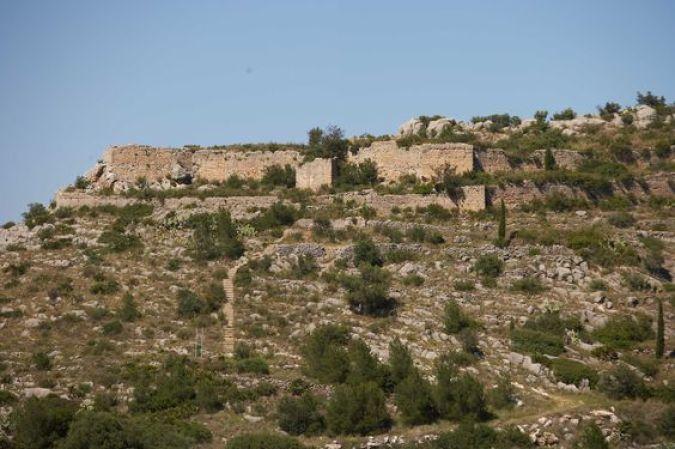 Castillo de Ambra, en Pego, alicante