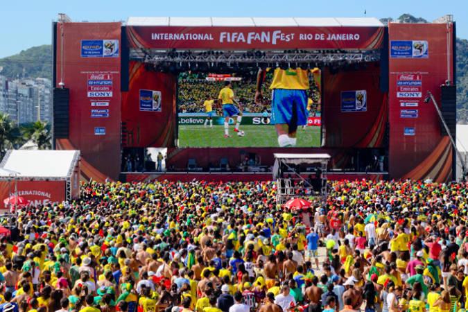 Fan Fest organizado por la FIFA en el Mundial de Río de Janeiro