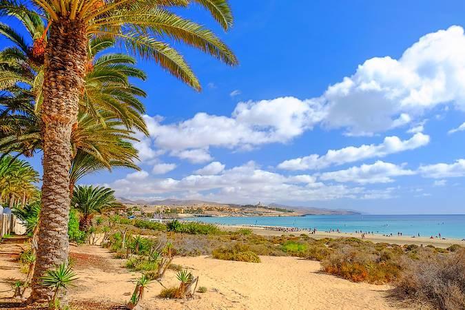 Costa Calma, en la isla de Fuerteventura