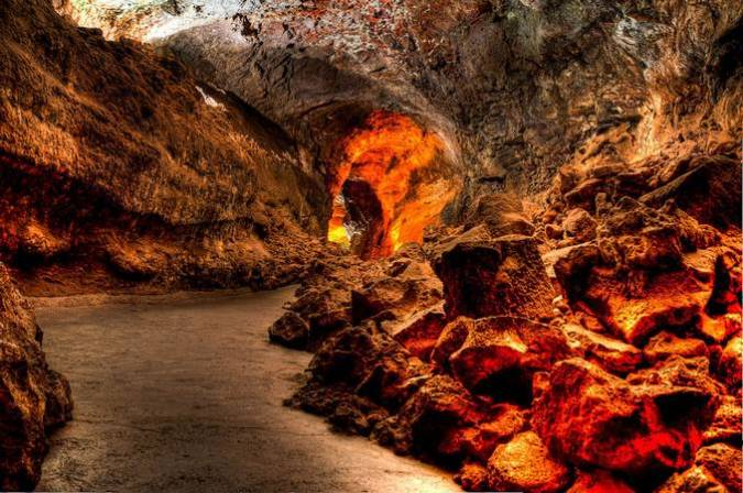 La Cueva de los Verdes, en Lanzarote