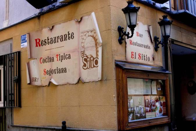 Bar El Sitio, en el casco antiguo de Segovia
