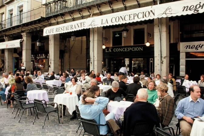 Bar La Concepción, en la Plaza Mayor de Segovia