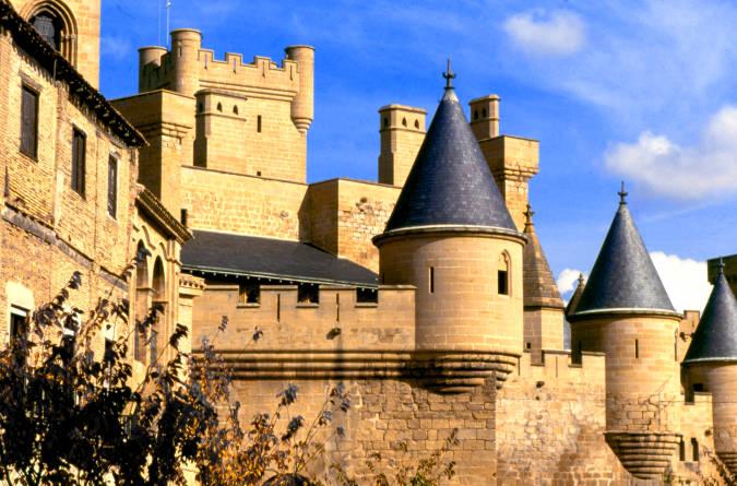 El castillo de Olite, en Navarra
