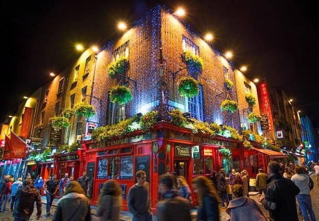 El barrio de Temple Bar, en Dublín, Irlanda