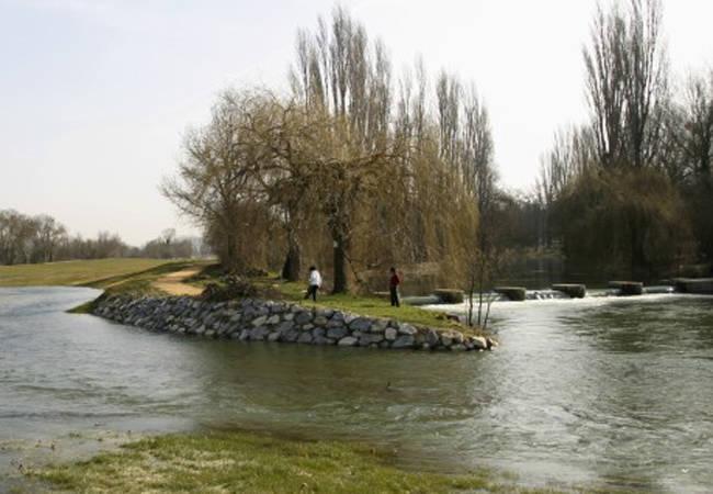 Río Zadorra en Vitoria