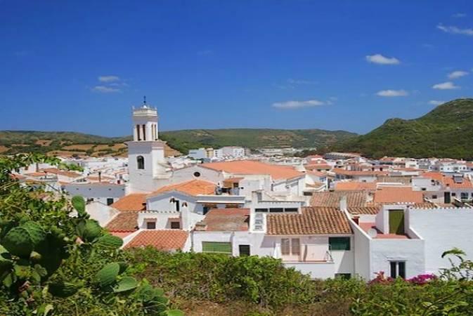 El bello pueblo de Ferreries, en la isla de Menorca