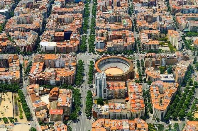 El modernista distrito del Eixample, en Barcelona
