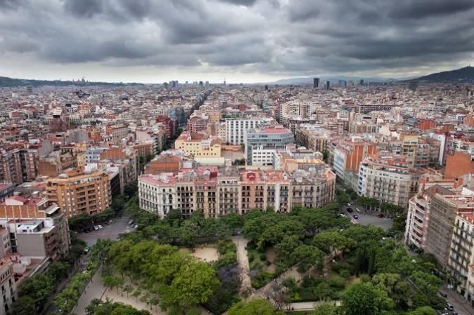 El distrito del Eixample, en Barcelona