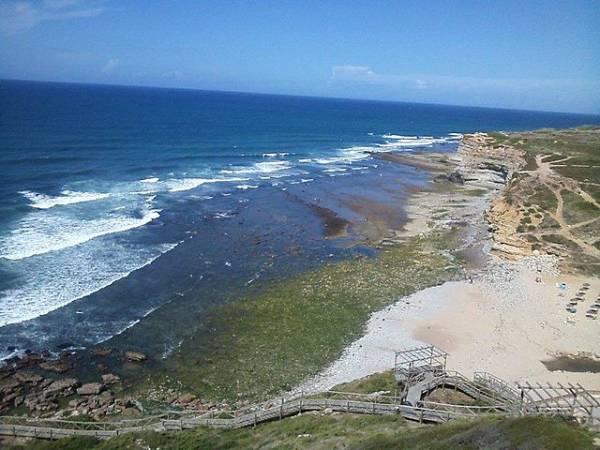 Playa de de Ribeira de Ilhas, en Ericeira, Portugal