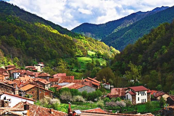 El precioso pueblo cántabro de Espinama