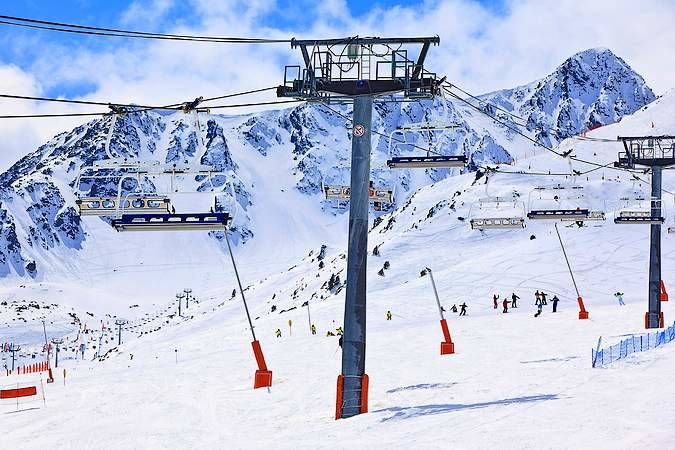 Pistas y remontes en Grandvalira, Andorra