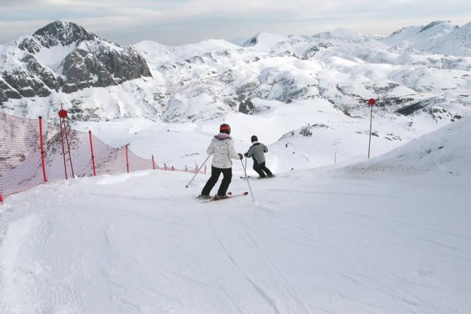 Estación de Esquí Fuentes de Invierno, en Asturias