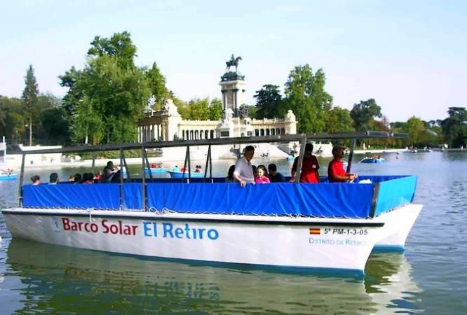 Barco Solar del Estanque Grande de El Retiro, en Madrid