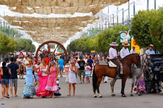 Feria de Málaga por el día