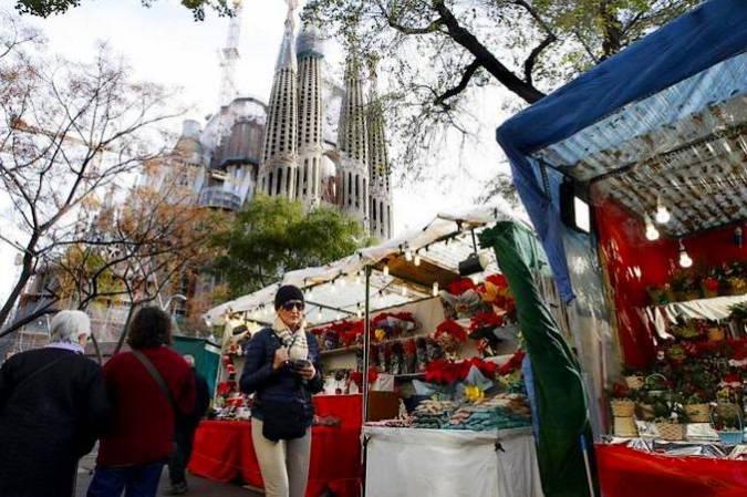 Feria de Navidad de la Sagrada Familia, en Barcelona