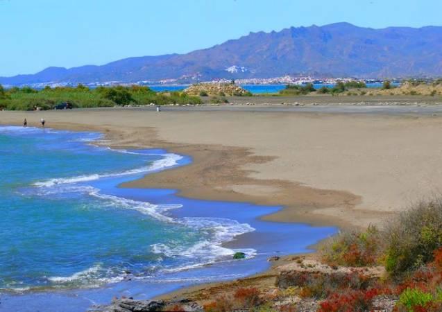 Playa de Villaricos, en Almería