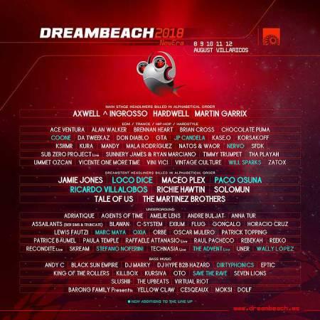 Cartel Dreambeach 2018