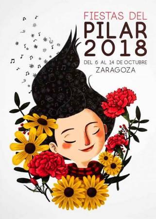 Cartel de las Fiestas del Pilar 2018, en Zaragoza
