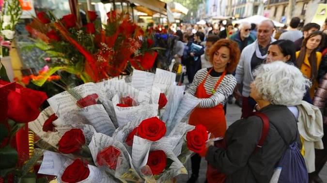 Celebración de Sant Jordi en Catalunya